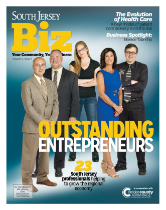 South Jersey Biz - 2015 Outstanding Entrepenuers Magazine Cover